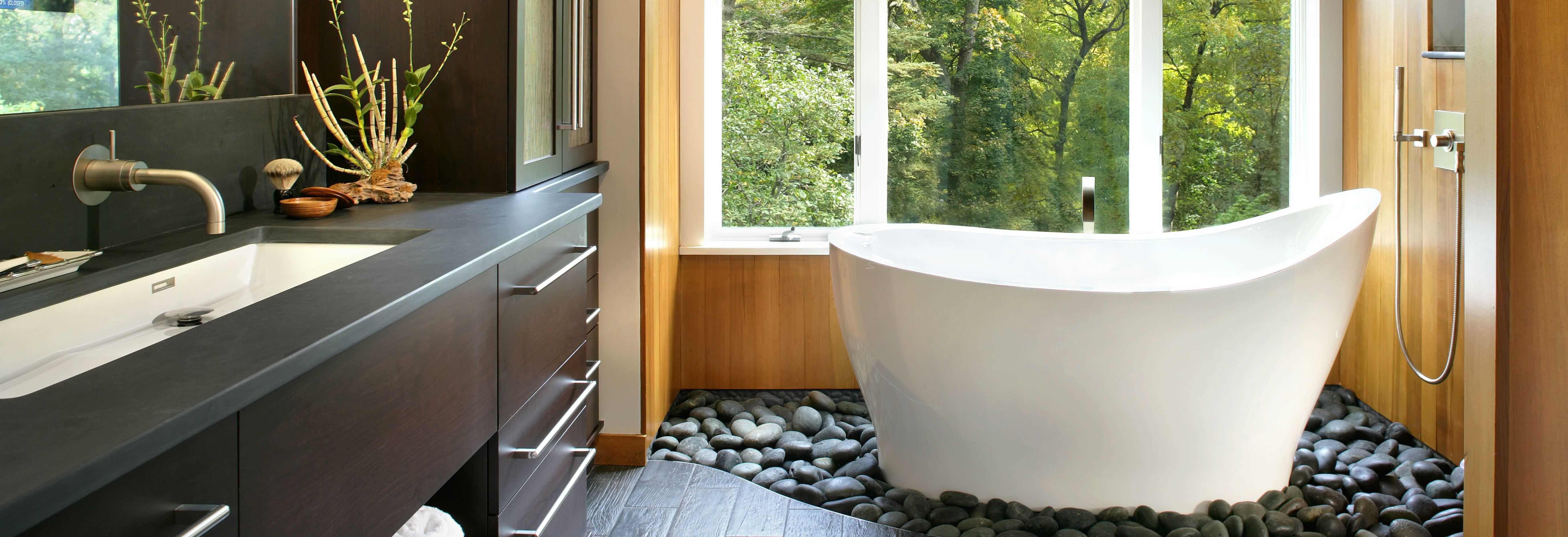A history of deep soaking tubs part 2 cabuchon for Award winning small bathroom designs