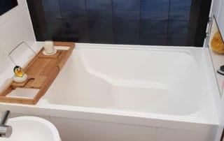 Nirvana deep soaking tub, made with bespoke sized rims