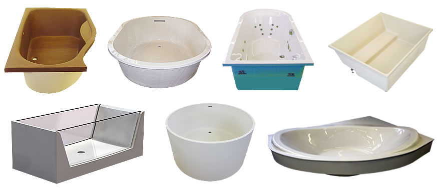 More examples of custom baths from Cabuchon Bathforms.