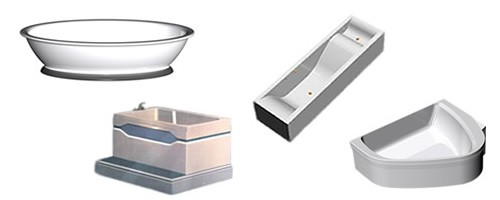 Examples of bespoke baths created for customers and showing our wide range of capability.