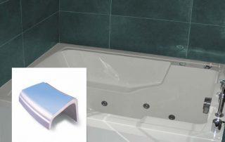 Nirvana deep soaking tub with modified rim sizes