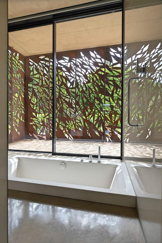 The Serenity double-ended bath installed semi-sunken in the award-winning home