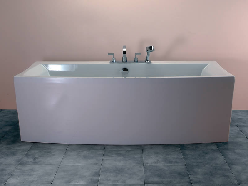 Elsia free standing bath on tiles