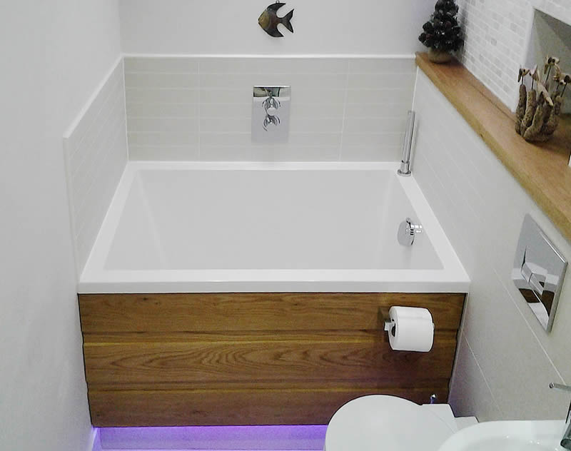 A View Showing The Minimalist Interior Of The Calyx Deep Soaking Tub