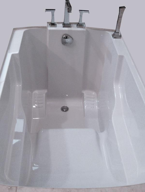 Interior view of the Nirvana deep soaking tub