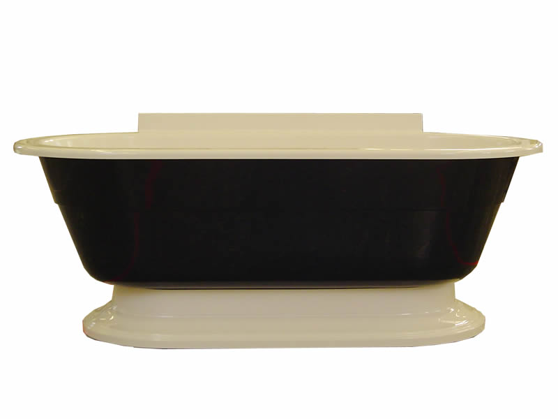 The Osbourne free standing bath, shown with custom colours