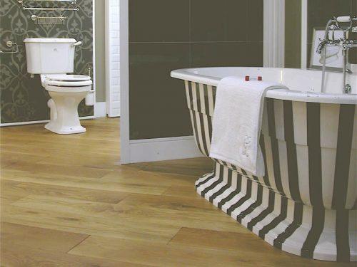 The Osbourne free standing bath with custom stripe finish