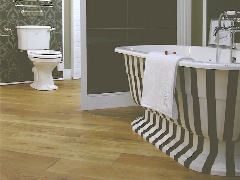 The Osbourne free standing bath with custom stripe finish