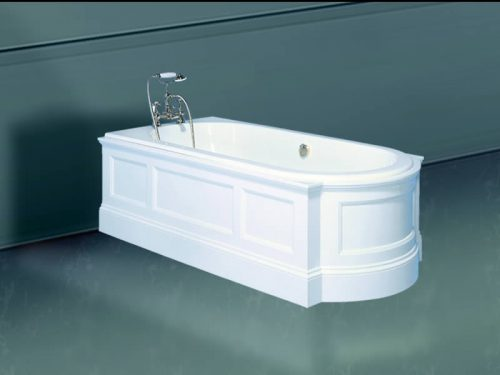 The Regency free standing bath in peninsular layout
