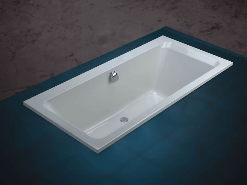 The Serenity double-ended bath, pictured with combined overflow and filler