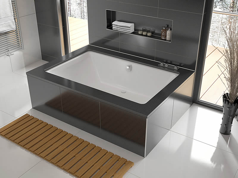 The Serenity Plus, 2 person bath, shown undermounted