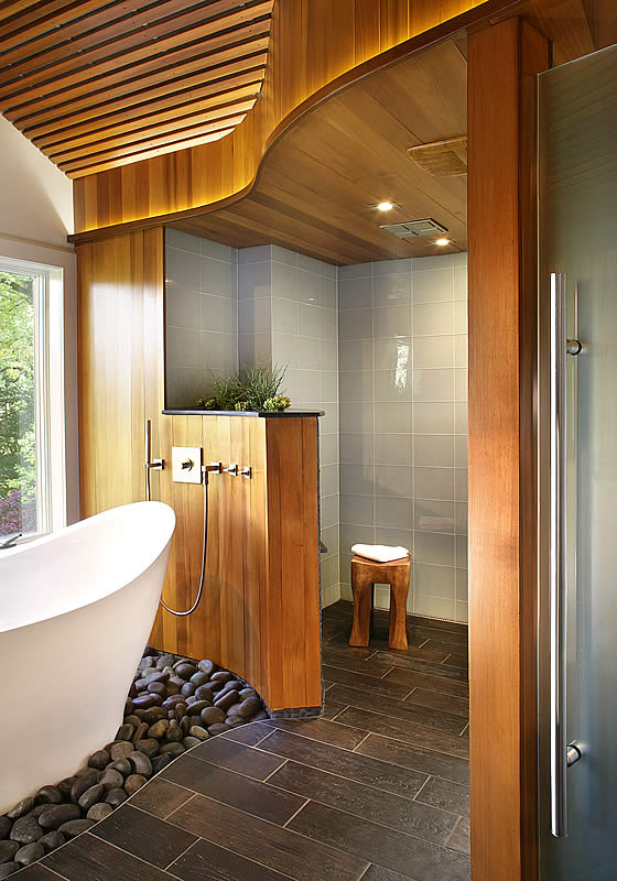 Another view of the award-winning bathroom design