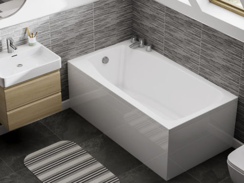 The Studio small, compact bath, installed in an attic bathroom benrath rooflights