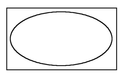 Illustration of the 'dead' space at the corners of an oval tub.