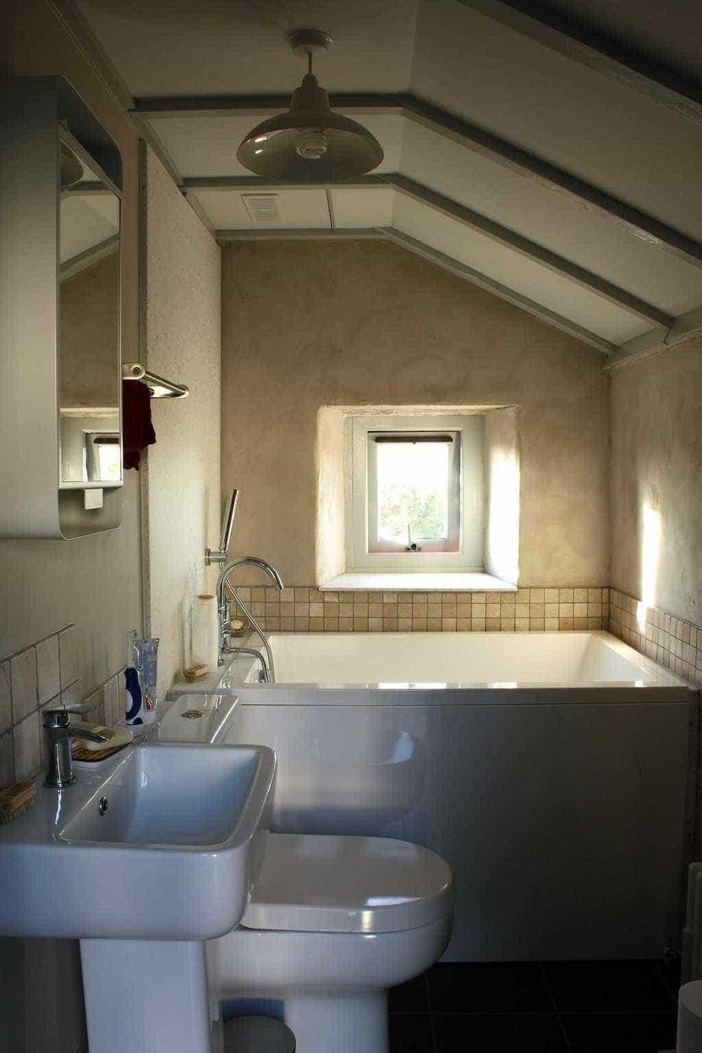 The Calyx 1230 space saving bath.