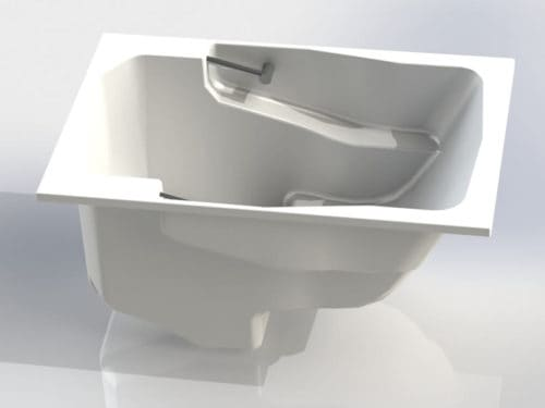 The Takara deep soaking tub shown without a surround.