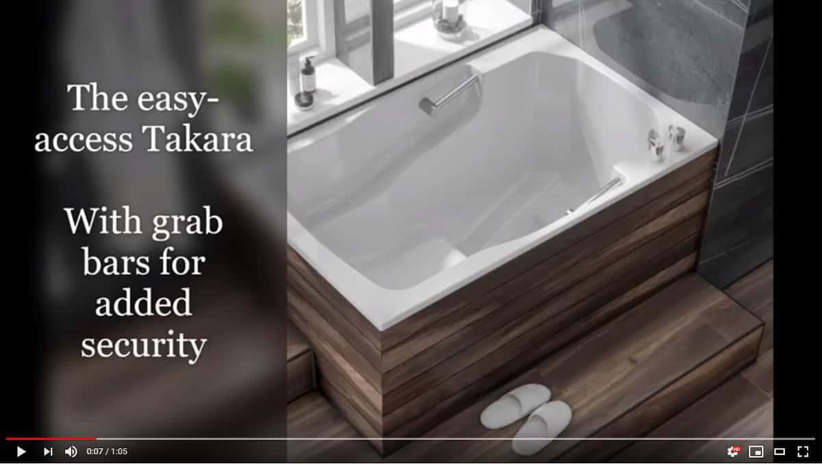 An image from the new Takara deep soaking tub video