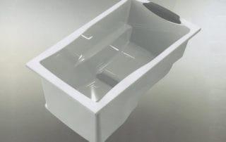 Design of the Yasahiro deep soaking tub