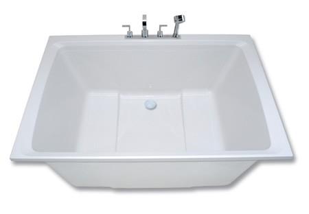 2 seats for shared bathing xanadu deep soaking tub for Deep built in bathtubs