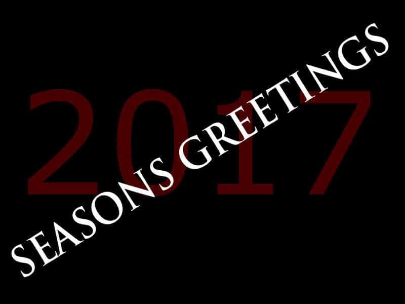 Seasons greetings, 2017