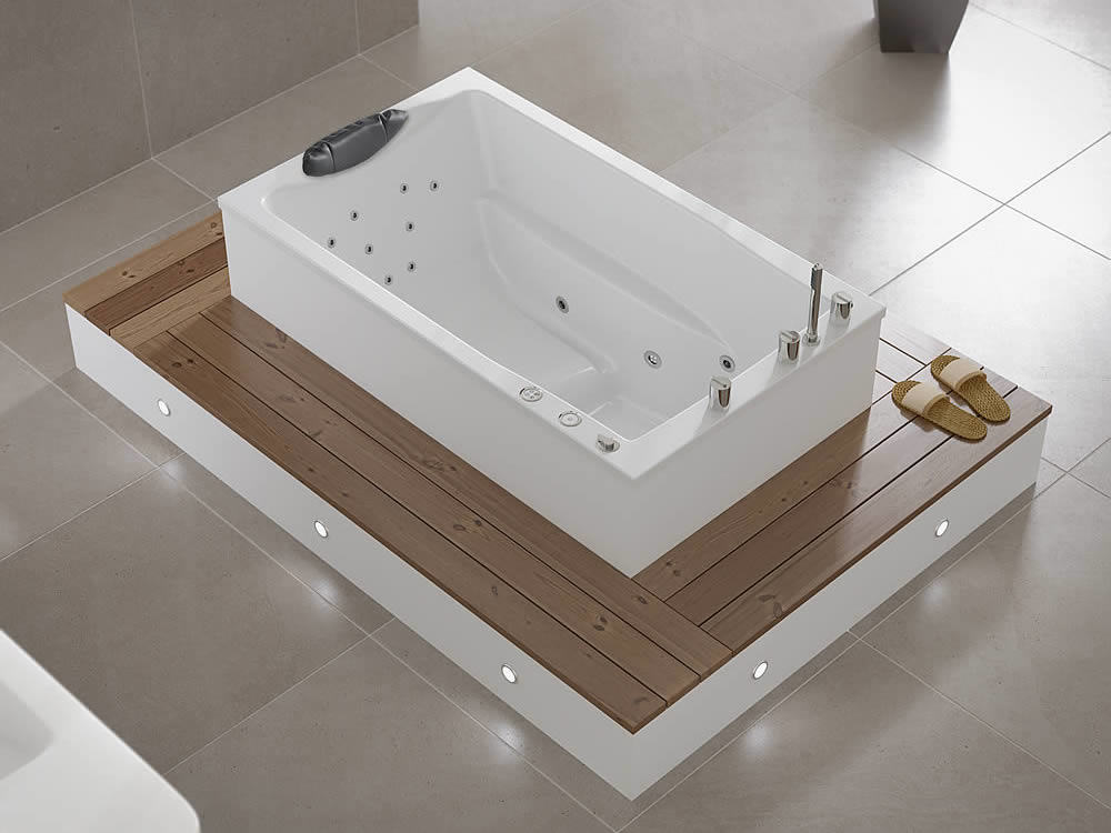 Yasahiro deep soaking tub for Soaking tub deep