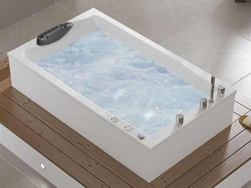 a hydrotherapy bath with chromotherapy light